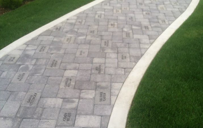 Engraved Brick - Walkway